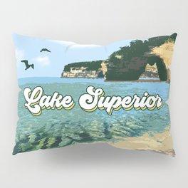 Lake Superior Retro Pillow Sham