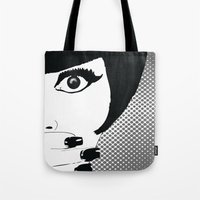 silent Tote Bags featuring silent by Ezgi Kaya