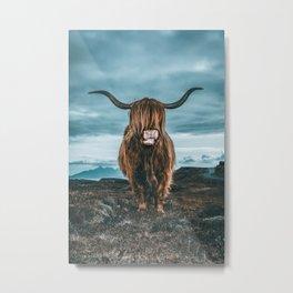 Rusty The Scottish Highland Coo Metal Print