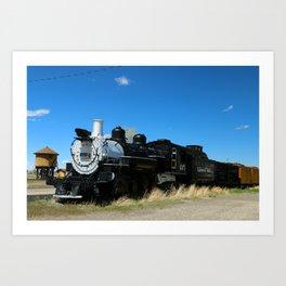 Denver & Rio Grande Steam Engine Art Print