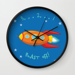 3, 2, 1, Blast Off!  Wall Clock