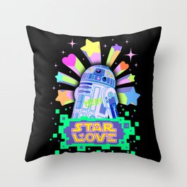 R2-D2 Star Love Throw Pillow
