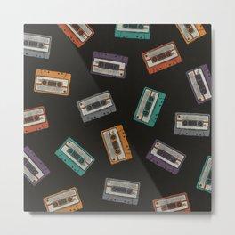 Cassette Tape Pattern Metal Print