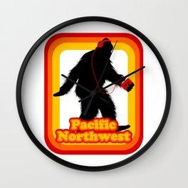Retro Sasquatch Pacific Northwest Wall Clock