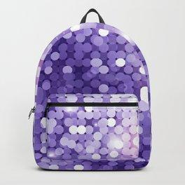Ultra Violet Purple Glitter Backpack