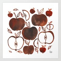 oana befort Art Prints featuring NOT GRANNY'S APPLES by Oana Befort