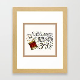 Little Drummer Boy Framed Art Print