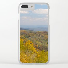 Yellow Trees in an Autumn Landscape Clear iPhone Case