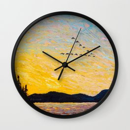Tom Thomson - Round Lake, Mud Bay  - Canada, Canadian Oil Painting - Group of Seven Wall Clock