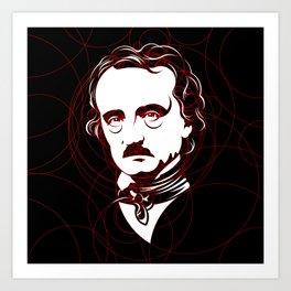 Edgar Allan Poe Circles Portrait Art Print