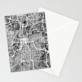 Kansas City Missouri City Map Stationery Cards