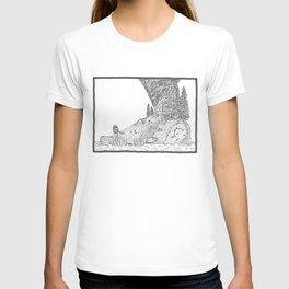 Fire on Foot Island T-shirt