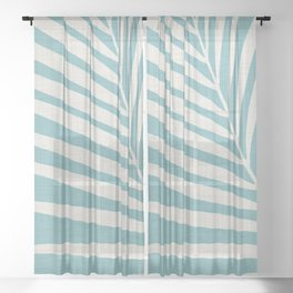 Vintage Palm Frond Sheer Curtain