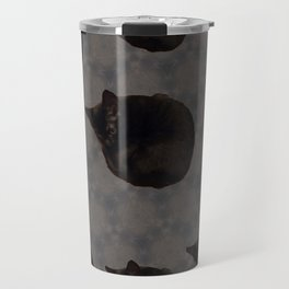 Black cat photo pattern Travel Mug