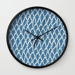 Fishing Net Blue Wall Clock