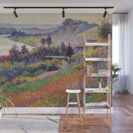 """Gorgeous French Countryside Landscape """"La Senna"""" by Maximilien Luce, 1890 Wall Mural"""