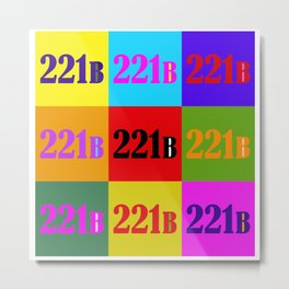 221B Color Block Metal Print