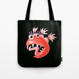 Funny Monster Crazy Silly Creature With Ponytails Tote Bag