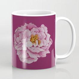 Watercolour Painting of a Pink Peony  Coffee Mug