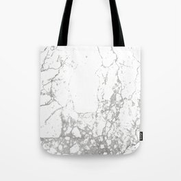Gray white abstract modern marble pattern Tote Bag