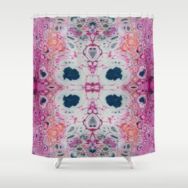 Fragmented 69 Shower Curtain