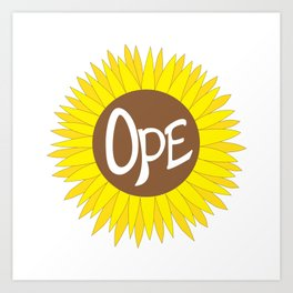 Hand Drawn Ope Sunflower Midwest Art Print