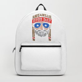 HAVE A WILLIE NELSON NICE DAY Backpack