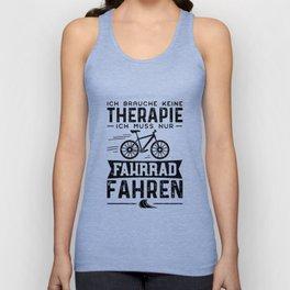 Ich Brauche Keine Therapie Ich Muss Nur Fahrrad Fahren Unisex Tank Top
