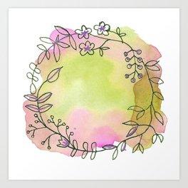 Rapunzel's wreath Art Print