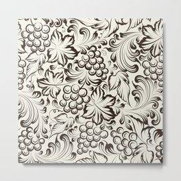 Vine seamless background Metal Print