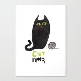 Chat Noir Canvas Print