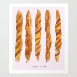 Les Baguettes Art Print