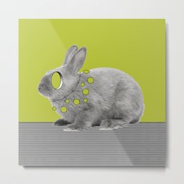 Rabbit my way Metal Print