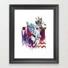 Tribal Girl  Framed Art Print