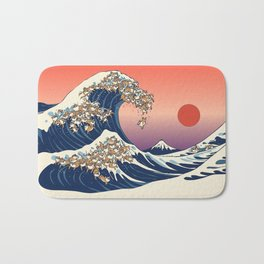 The Great Wave of Shiba Inu Badematte
