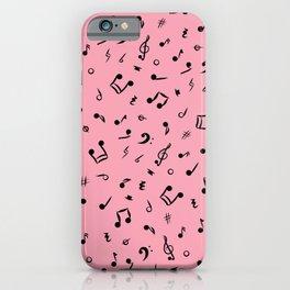 Music Notes & Symbols Pink  iPhone Case