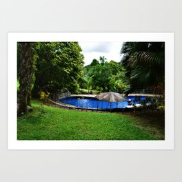Pool days in the Rain Forest Art Print