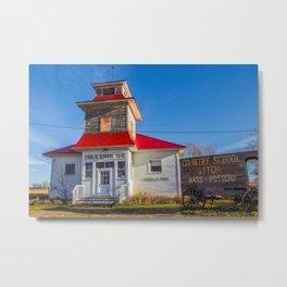 School, Vandalia, Montana Metal Print