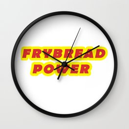 Frybread Power Native American Indian Taco  Wall Clock