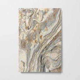 True gold marble in California desert (nature, love) Metal Print
