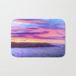 Biscay Bay sunset Bath Mat