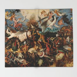 Pieter Bruegel the Elder The Fall of the Rebel Angels Throw Blanket