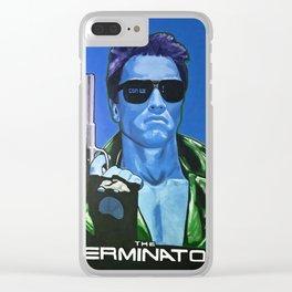 Terminator - Blue Clear iPhone Case
