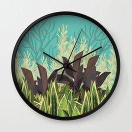 Tropical Desert Illustration  Wall Clock