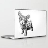 corgi Laptop & iPad Skins featuring Corgi Puppy by BIOWORKZ