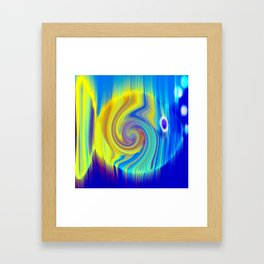 Colorful Abstract Fish Art Framed Art Print