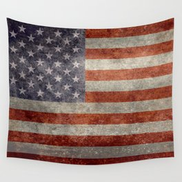 USA flag - Retro vintage Banner Wall Tapestry