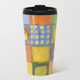 Lovely Picturesque Check Pattern Travel Mug