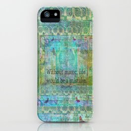 Nietzsche music quote iPhone Case