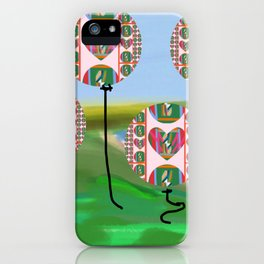 Love Balloons Protecting Guam iPhone Case